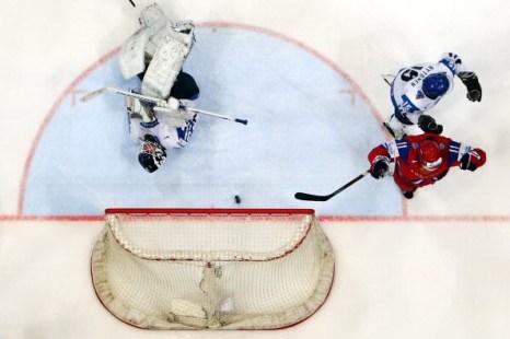 Сборная России - Сборная Финляндии. Фото: Alexander NEMENOV/AFP/Getty Images