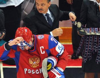 Илья Ковальчук- серебреный призер ЧМ-2010. Фото: Alexander NEMENOV/AFP/Getty Images