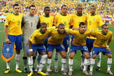 Сборная Бразилии. Фото: Richard HEATHCOTE/AFP/Getty Images