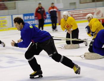 Команда омского «Авангарда» обновляется сильными хоккеистами. Фото: STR/AFP/Getty Images