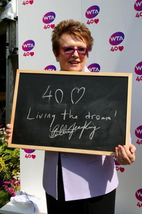 Основатель WTA Билли Джин Кинг на праздновании 40-летия WTA в Лондоне. Фото: Julian Finney/Getty Images