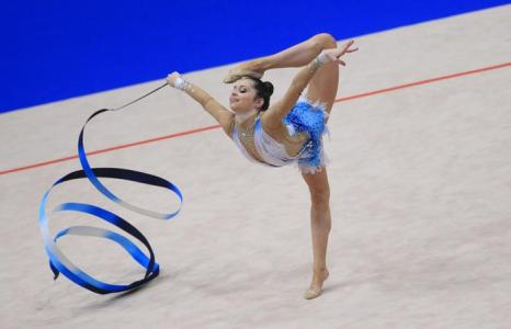 Виктория Вейнберга Филановски из Израиля на Чемпионате Европы в командном зачёте. Фото: ALEXANDER KLEIN/AFP/Getty Images