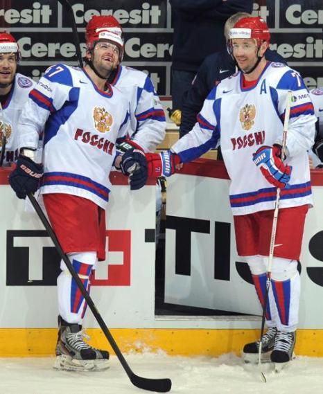 Россияне обыграли Германию на чемпионате мира по хоккею. Фото: ALEXANDER NEMENOV/AFP/Getty Images
