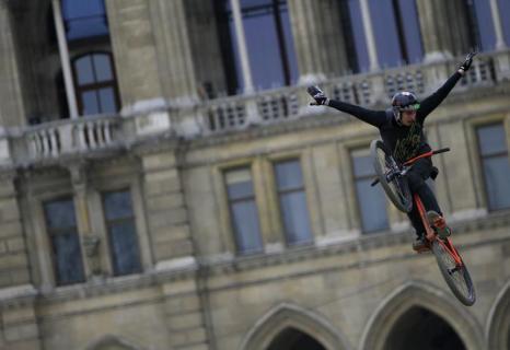 В Вене прошёл велосипедный контест. Фото: ALEXANDER KLEIN/AFP/Getty Images