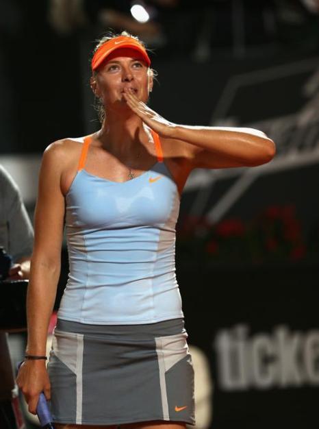 Мария Шарапова победила в матче с Слоан Стивенс и вышла в четвертьфинал турнира в Риме. Фото: Clive Brunskill/Getty Images