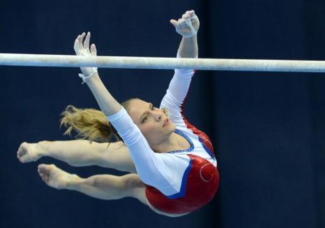Ксения Афанасьева вышла в финал Чемпионата Европы по спортивной гимнастике. Фото: NATALIA KOLESNIKOVA/AFP/Getty Images