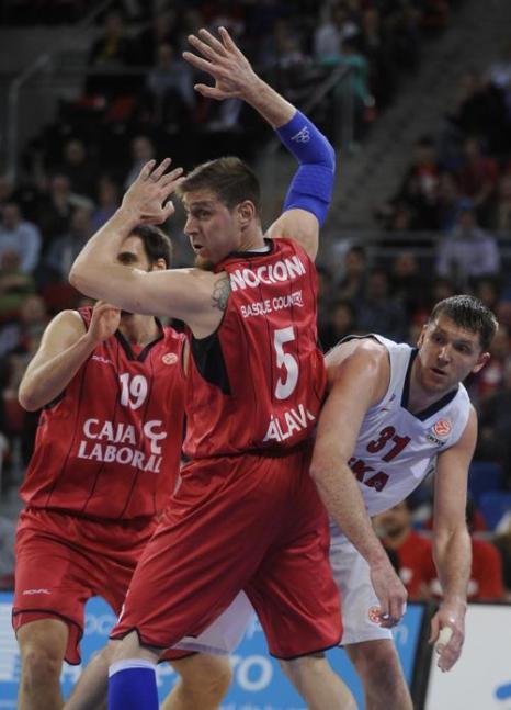 ЦСКА одержал победу над Каха Лабораль и прошли в Финал четырёх. Фото: RAFA RIVAS / AFP / Getty Images