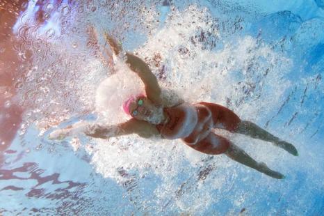 Юлия Ефимова завоевала серебряную медаль в плавании брасом на дистанции 100 метров в 11 день Чемпионата мира по водным видам спорта в испанской Барселоне 30 июля 2013 года. Фото: FRANCOIS XAVIER MARIT/AFP/Getty Images