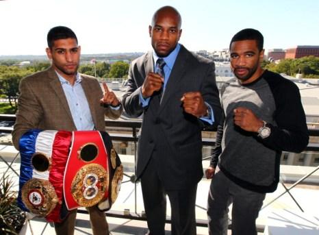 Фоторепортаж о пресс-конференции боксеров Амир Хана и Ламонта Петерсона. Фото: Ned Dishman/Getty Images