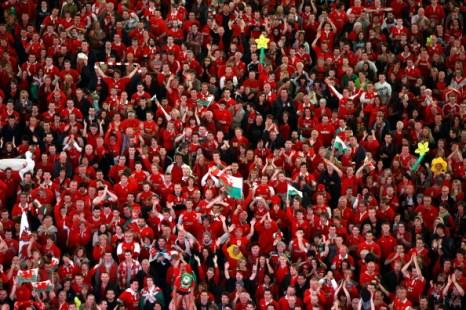 Болельщики во время матча ЧМ по регби между командами Уэльса и Франции. Фото: Matt Cardy /Cameron Spencer / Mike Hewitt /Stu Forster /Alex Livesey/Getty Images