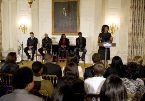 Мишель Обама с легендарными музыкантами на блюз-концерте в Белом доме. Фоторепортаж и видео. Фото: Win McNamee/Getty Images