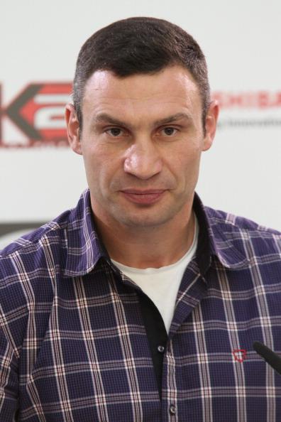 Фоторепортаж с пресс-конференции Виталия   Кличко и Томаша Адамека.  Фото:  Bongarts/Getty Images