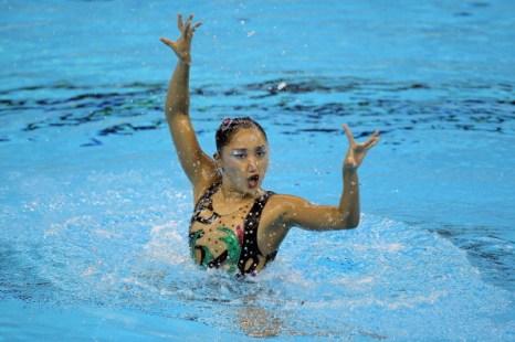 Фоторепортаж с предварительного раунда индивидуальных соревнований синхронисток. Фото: Ezra Shaw/Getty Images