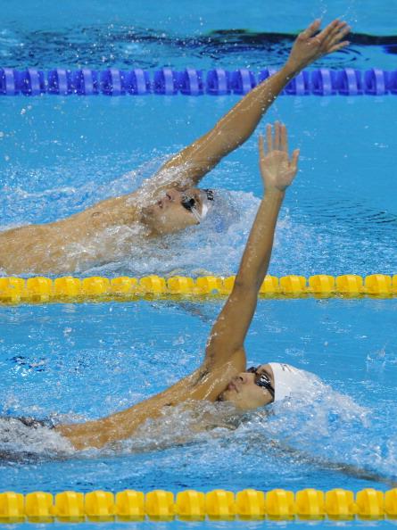 Станислав Донец вышел в финал в заплыве на 200 метров на спине на ЧМ в Шанхае. Фото: FRANCOIS XAVIER MARIT /MARK RALSTON /PHILIPPE LOPEZ/AFP/Getty Images