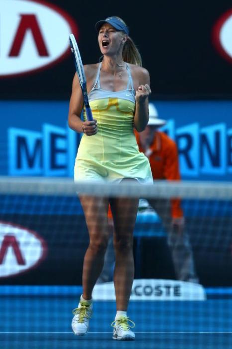 Встреча Марии Шараповой и Екатерины Кузьминой в ј финала Australian Open, Мельбурн, Австралия.  Фото: Ryan Pierse-Pool/Getty Images