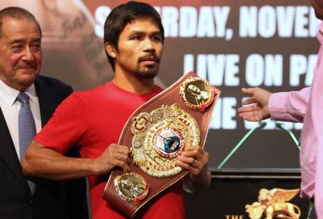 Филиппинский боксёр и политик Мэнни Пакиао. Фото: DALE de la REY/AFP/Getty Images