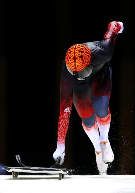 Джон Фэрбэрн из Канады впервые вышел на тренировку в Сочи 5 февраля 2014 года перед началом Олимпийских игр. Фото: Alex Livesey/Getty Images