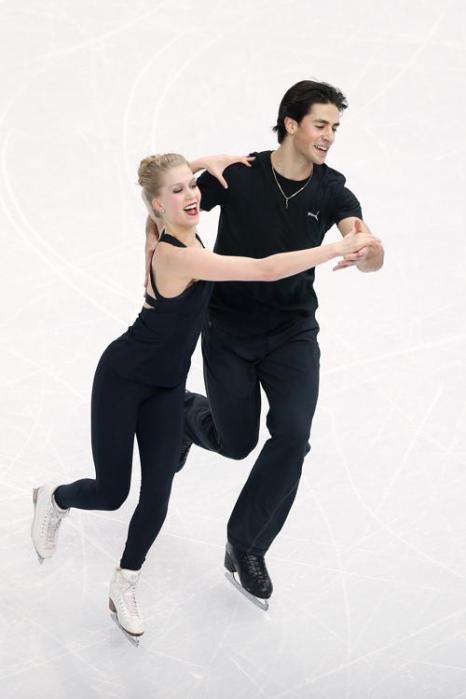 Кейтлин Уивер и Эндрю Поже откатали свою программу на тренировке в Сочи 5 февраля перед Олимпийскими играми 2014. Фото: Matthew Stockman/Getty Images