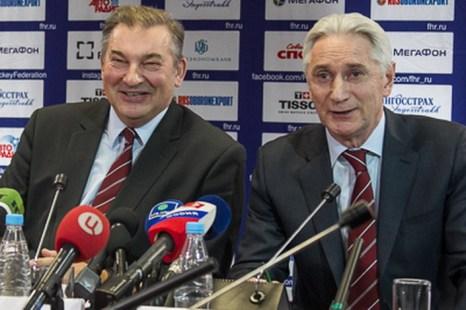 Владислав Третьяк и Зинэтула Билялетдинов. Фото: fhr.ru
