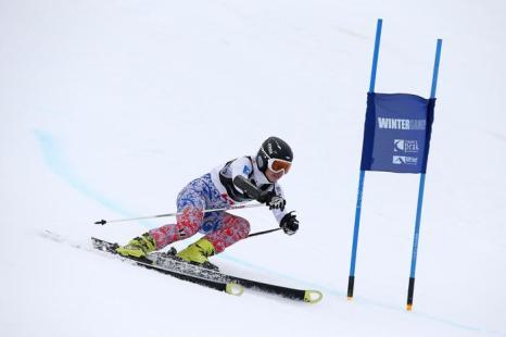Елена Простева показала 13 результат в слаломе-гиганте на Кубке зимних игр в Новой Зеландии 20 августа 2013 года. Фото: Hannah Johnston/Getty Images