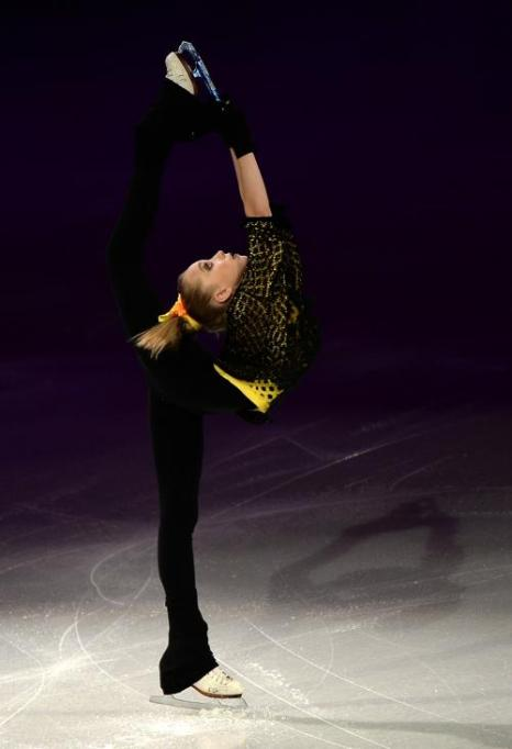 Россиянка Елизавета Туктамышева стала четвёртой среди одиночниц на Гран-при по фигурному катанию Skate America в Детройте 20 октября 2013 года. Фото: Dave Reginek / Getty Images