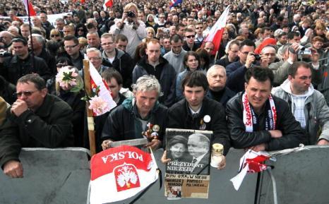В Польше простились с жертвами авиакатастрофы под Смоленском. Фото: JOE KLAMAR/AFP/Getty Images