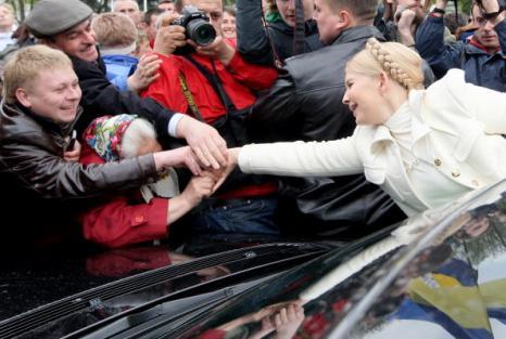 Тимошенко призывает сторонников собраться во вторник на митинг. Фото: GENYA SAVILOV/AFP/Getty Images