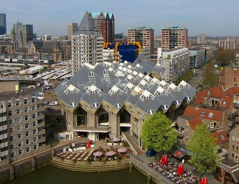 Кубические дома, Роттердам, Нидерланды. Фото: Hanselpedia/commons.wikimedia.org