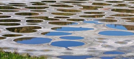Пятнистое озеро Клилук — это водоём, расположенный в Британской Колумбии, Канада. Фото: Lijuan Guo/Photos.com