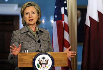 Хиллари Клинтон говорит, что нестабильность на Аравийском полуострове угрожает как региональной, так и мировой безопасности. Фото: TIM SLOAN/AFP/Getty Images