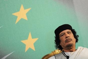 Каддафи выпишут ордер на арест. Фото: ANDREAS SOLARO/AFP/Getty Images