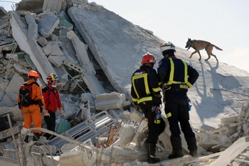 При разборе завалов штаб-квартиры ООН в столице Гаити были найдены тела сотрудников миссии. Фото: NICHOLAS KAMM/AFP/Getty Images