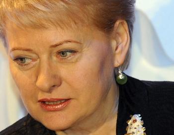 Президент Литвы Даля Грибаускайте. Фото:  SARI GUSTAFSSON/AFP/Getty Images