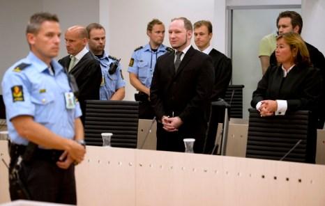 Суд в Осло вынес норвежцу Брейвику высшую меру наказания 24 августа 2012 г. Фото: ODD ANDERSEN/AFP/GettyImages
