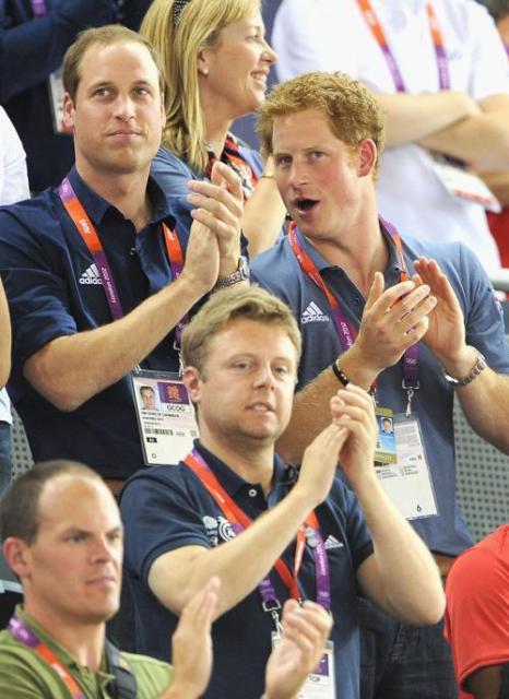 Герцогиня Кембриджская,  принц Уильям и принц Гарри посетили соревнования олимпийцев. Фоторепортаж. Фото: Clive Brunskill/Getty Images