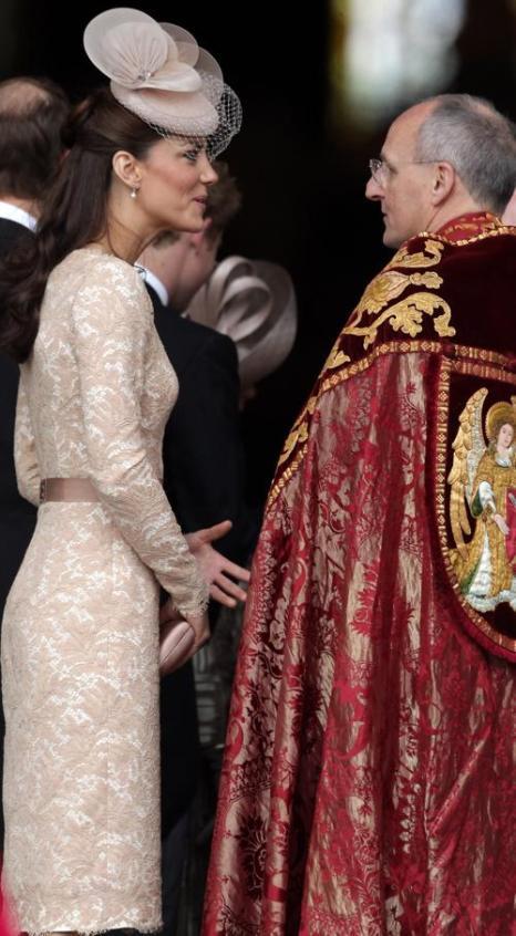 Екатерина и другие члены королевской семьи на службе благодарения в соборе Святого Павла.  Фоторепортаж. Фото: Jeff J Mitchell - WPA Pool /Getty Images