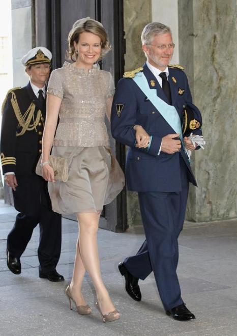 Крестины шведской принцессы Эстель.  Принц Гийом из Люксембурга и Стефания де Ланнуа. Фоторепортаж. Фото: Chris Jackson/Getty Images