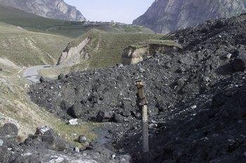 16 человек погибли в селевых потоках в горах  Таджикистана. Фото с сайта kbzhd.ru