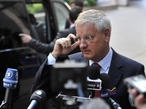 Министр иностранных дел Швеции Карл Бильдт в Брюсселе. Фото: GEORGES GOBET/AFP/GettyImages)