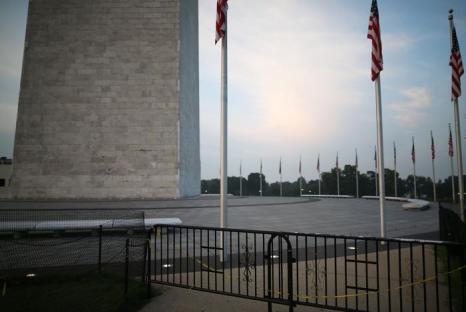 Монумент Вашингтона закрыт уже в течение года. Фото: Mark Wilson/Getty Images