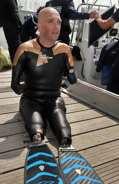 Пролив Ла-Манш французский инвалид-спортсмен переплыл всего за 14 часов. Фото: PIERRE ANDRIEU/AFP/Getty Images
