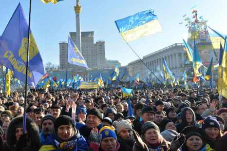 Украина. Киев, Майдан. Фото: SERGEI SUPINSKY/AFP/Getty Images