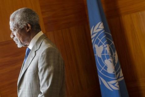 Кофи Аннан отказался от миссии посланника ООН в Сирии. Фото: FABRICE COFFRINI/AFP/GettyImages