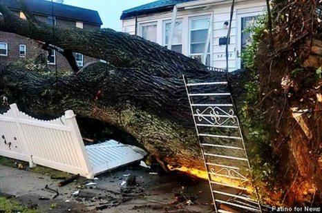 Ураган в  Нью-Йорке. Фото с сайта nydailynews.com