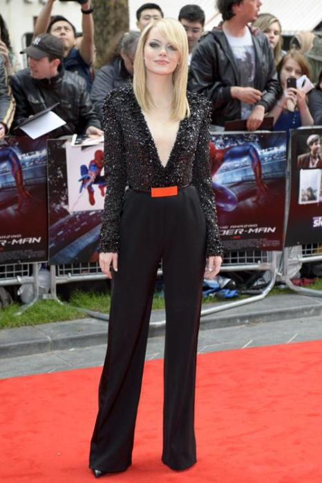 Знаменитости на  гала-премьере фильма «Человек-паук» в Лондоне. Emma Stone. Фоторепортаж. Фото: Ben Pruchnie/Getty Images