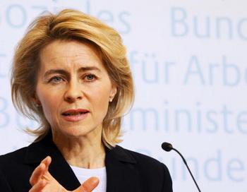 Министр труда Германии Урсула фон дер Лайен. Фото: AXEL SCHMIDT/AFP/Getty Images