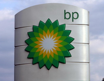 Логотип компании British Petroleum. Фото: PAUL ELLIS/AFP/Getty Images