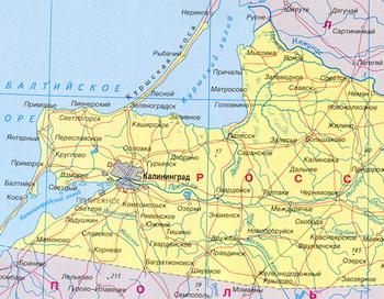 Фрагмент карты Калининградской области. Фото с сайта allrf.ru