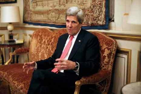 Госсекретарь США Джон Керри решил отказаться от части своей зарплаты, следуя примеру Барака Обамы. Фото: THIBAULT CAMUS/AFP/Getty Images
