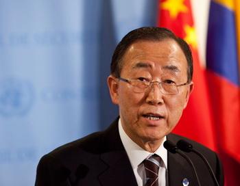 Пан Ги Мун, генеральный секретарь ООН. Фото: Andrew Burton/Getty Images